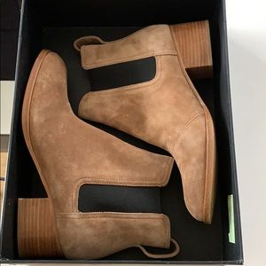 NEW in box rag & bone walker camel suede boot 8